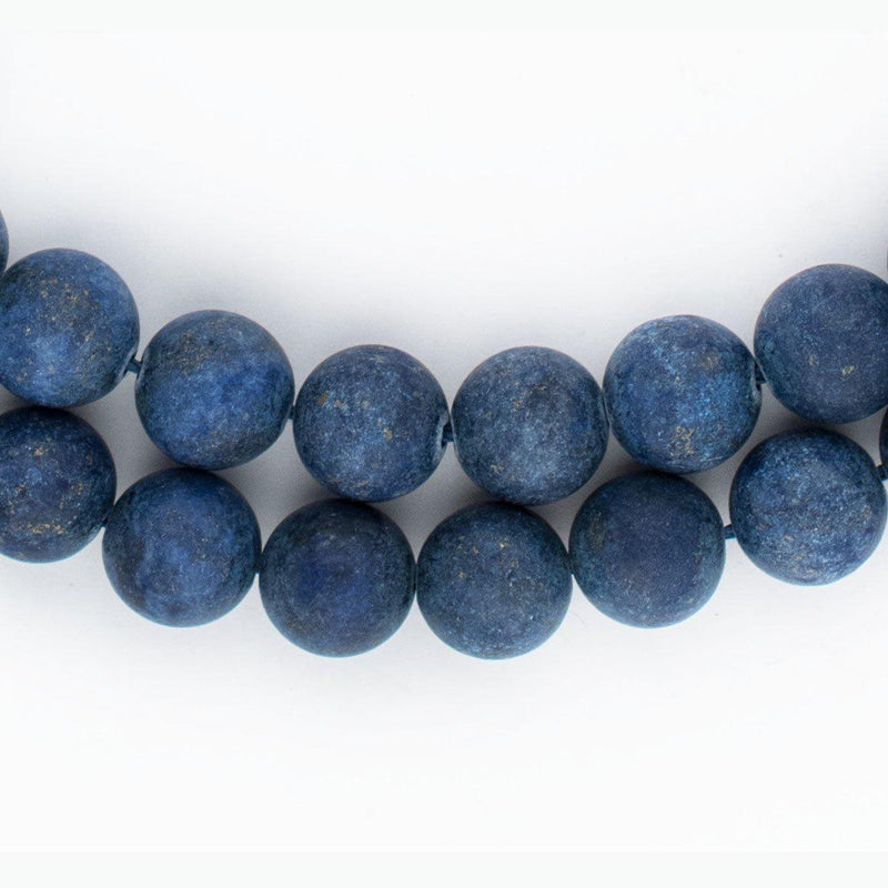 Matte Round Lapis Lazuli Beads (10mm) - The Bead Chest