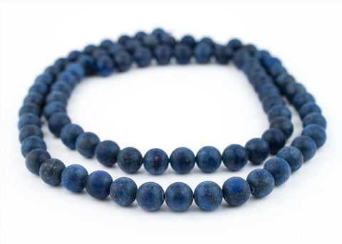 Image of Matte Round Lapis Lazuli Beads (10mm) - The Bead Chest