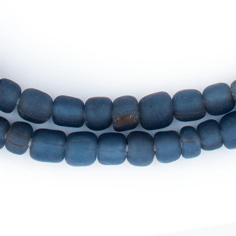 Translucent Blue Java Glass Beads - The Bead Chest