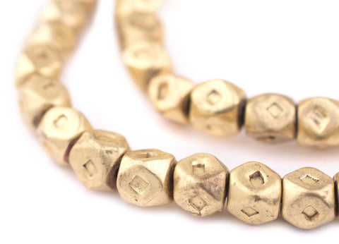 Image of Patterned Tuareg Brass Tube Beads (41x5mm) - The Bead Chest