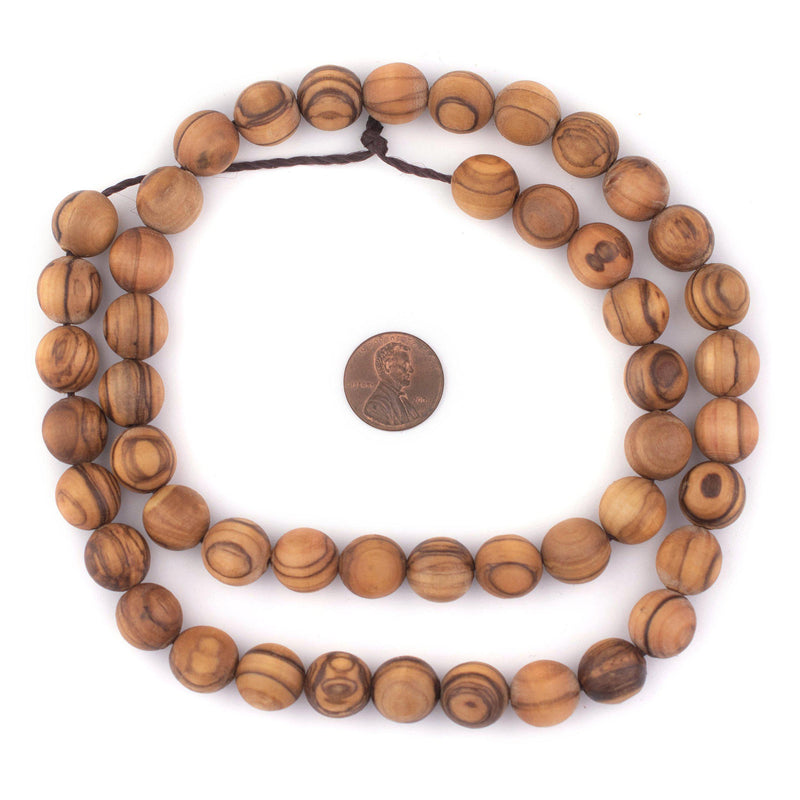 Round Olive Wood Beads from Bethlehem (12mm)