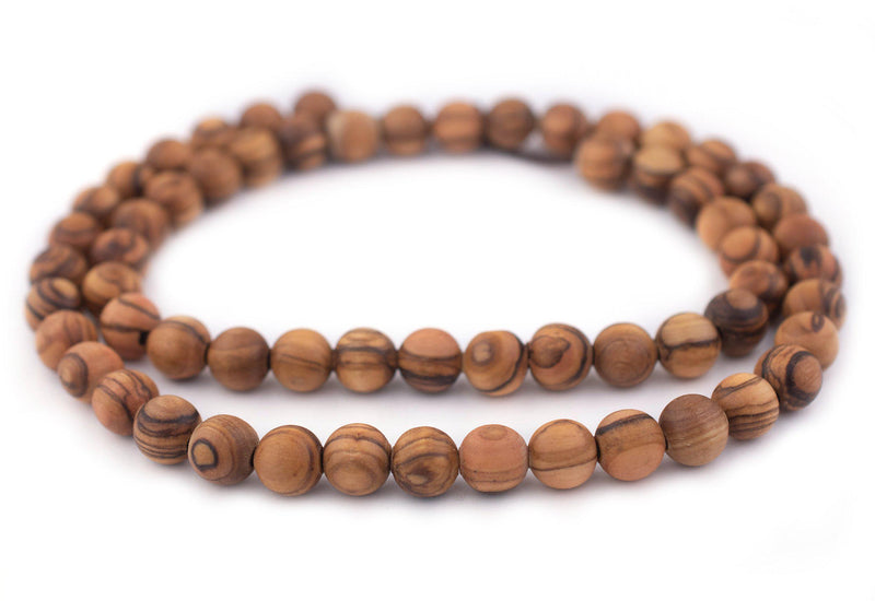 Round Olive Wood Beads from Bethlehem (10mm) - The Bead Chest