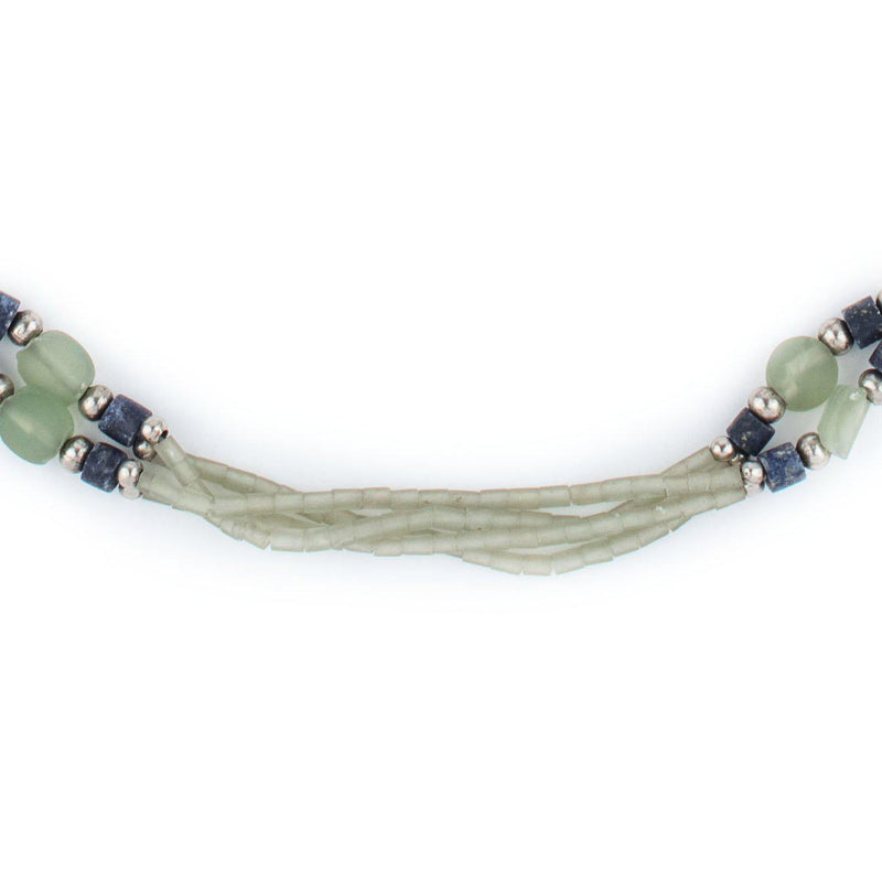 Natural Afghani Stone Jade Fish Necklace - The Bead Chest