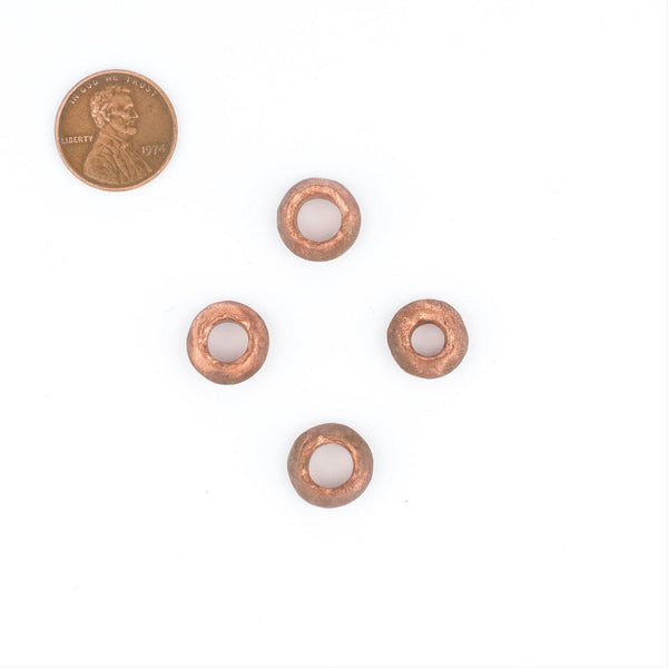 Copper Ethiopian Wollo Rings (12mm) (Set of 4)
