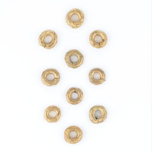 Ghana Brass Donut Beads (14mm)(Set of 10) - The Bead Chest