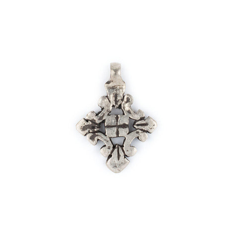 Silver Ethiopian Coptic Cross Pendant (Small) - The Bead Chest