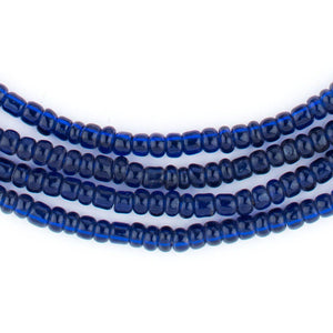Translucent Blue Kenya Seed Beads (4mm) - The Bead Chest