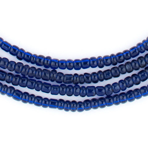 Image of Translucent Blue Kenya Seed Beads (4mm) - The Bead Chest