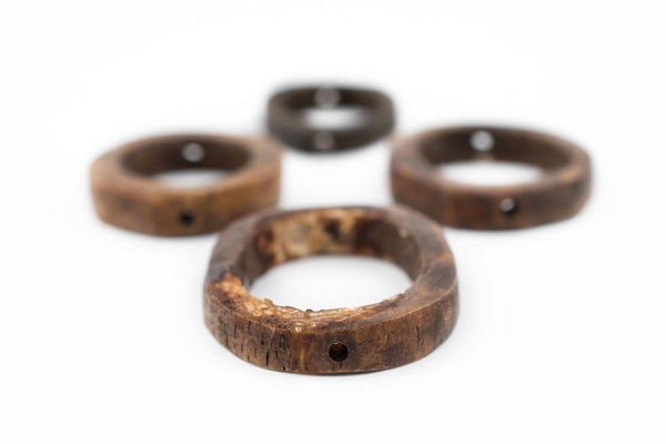 Brown Camel Bone Ring Beads (Set of 4) - The Bead Chest