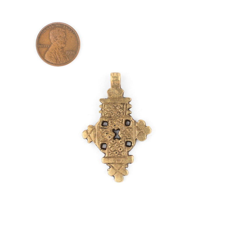 Bronze Ethiopian Coptic Cross Pendant (Medium) - The Bead Chest