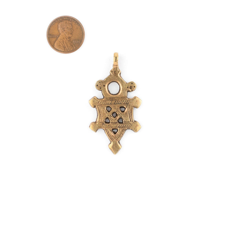 Bronze Tuareg Cross Pendant (Medium) - The Bead Chest