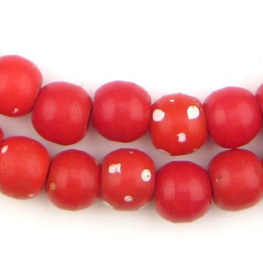 Vintage Red Padre Prosser Skunk Beads (12mm) - The Bead Chest