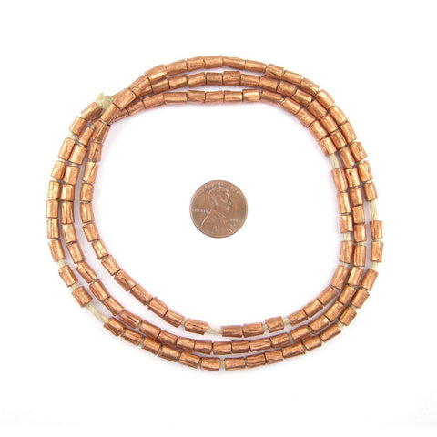 Copper Ethiopian Scratch Beads (6x4mm) - The Bead Chest