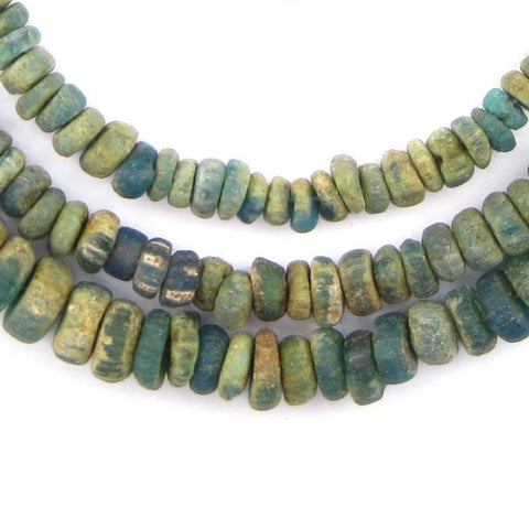 Ancient Djenne Green Glass Beads (Long Strand) - The Bead Chest