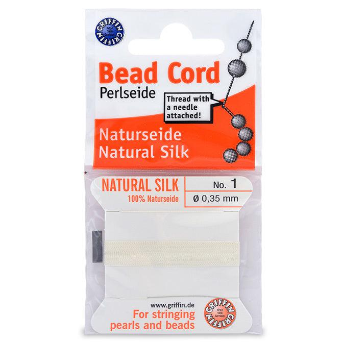 White Silk Thread (Size 1, 0.35mm) - The Bead Chest