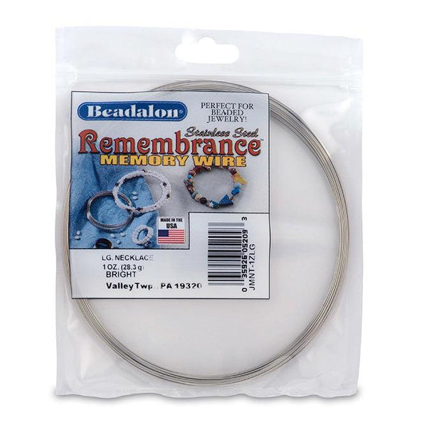 Remembrance Memory Wire, Round, Necklace, Large - The Bead Chest