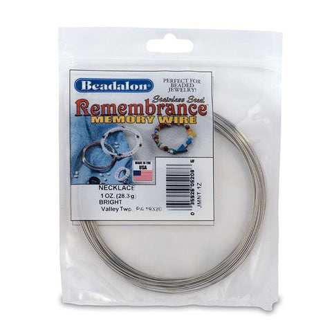 Remembrance Memory Wire, Round, Necklace - The Bead Chest