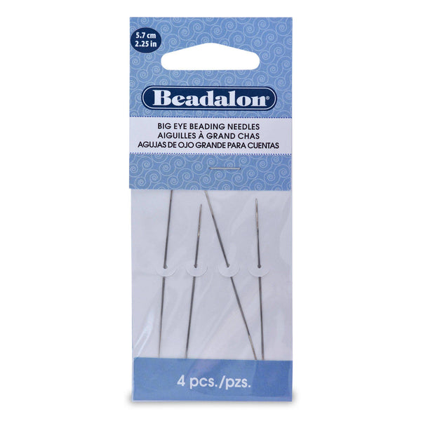 "2.25"" Big Eye Beading Needles (4pc) - The Bead Chest"