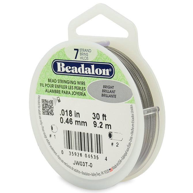 "0.018"" Bright 7 Strand Beadalon Wire (30ft) - The Bead Chest"