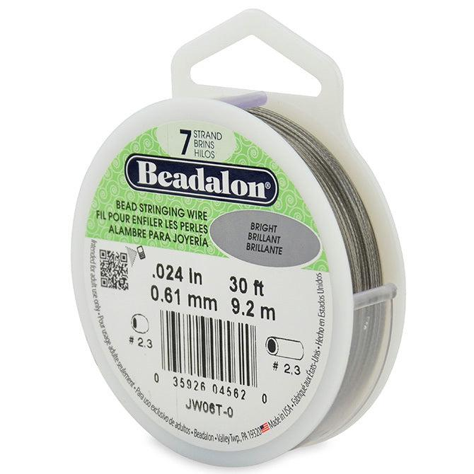 "0.024"" Bright 7 Strand Beadalon Wire (30ft) - The Bead Chest"