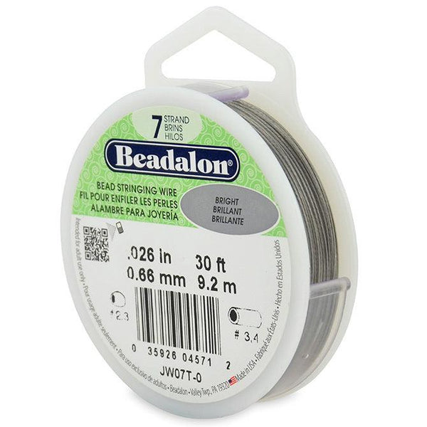 "0.026"" Bright 7 Strand Beadalon Wire (30ft)"