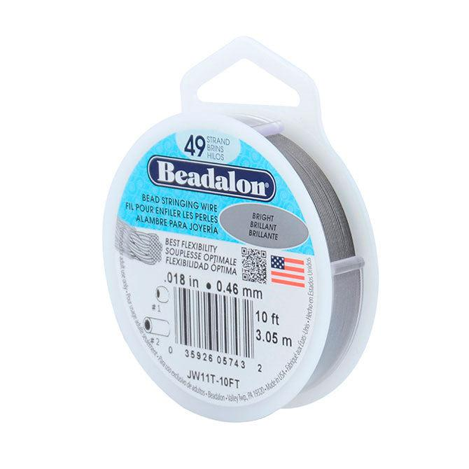 "0.018"" Bright 49 Strand Beadalon Wire (10ft) - The Bead Chest"
