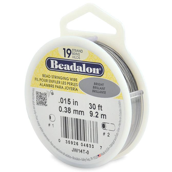 "0.015"" Bright 19 Strand Beadalon Wire (30ft) - The Bead Chest"