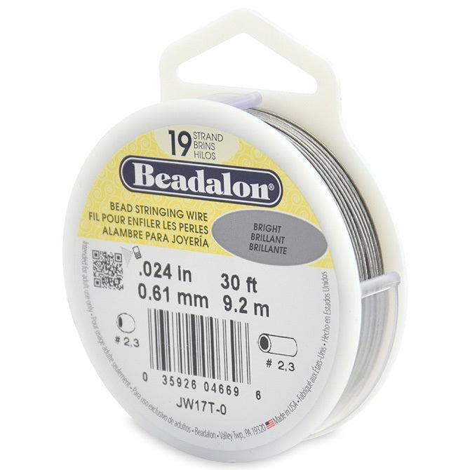 "0.024"" Bright 19 Strand Beadalon Wire (30ft) - The Bead Chest"