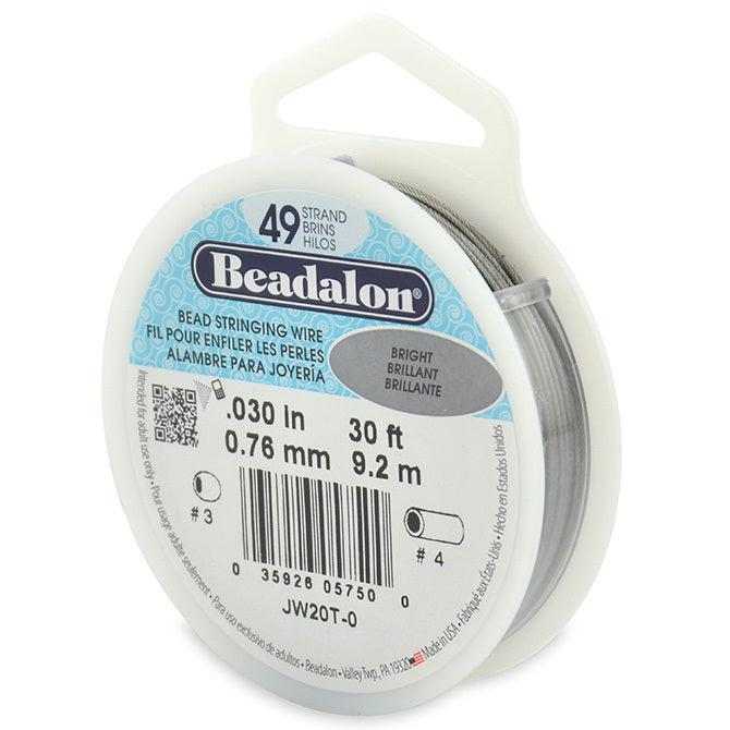 "0.030"" Bright 49 Strand Beadalon WIre (30ft) - The Bead Chest"