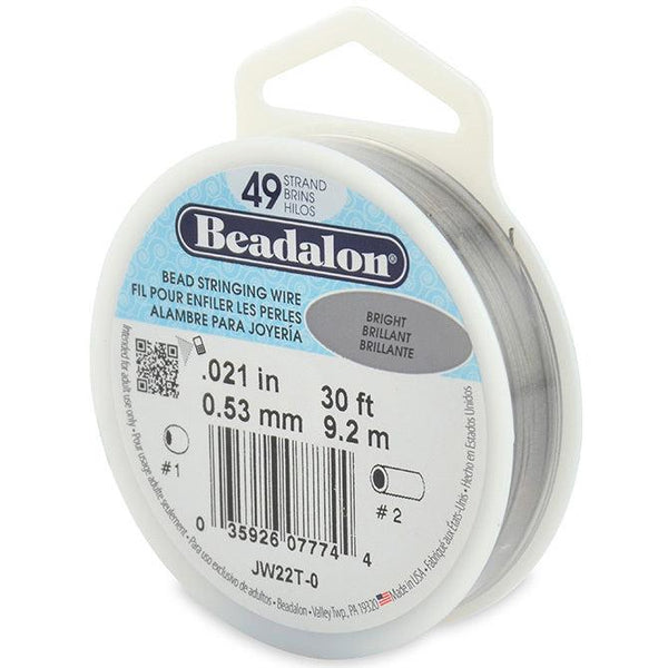 "0.021"" Bright 49 Strand Beadalon Wire (30ft) - The Bead Chest"