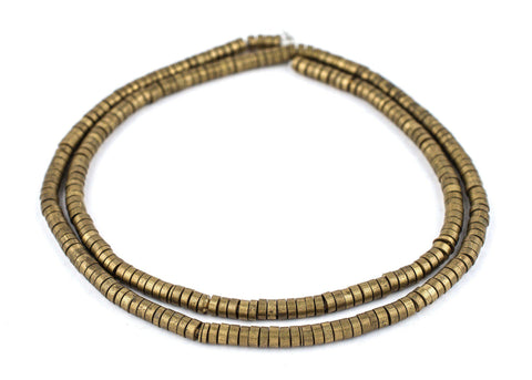 Brass Snake Disk Beads (5mm) - The Bead Chest