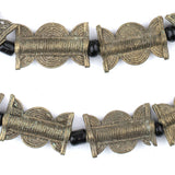 Vintage-Style Baule Brass Beads (23x15mm)