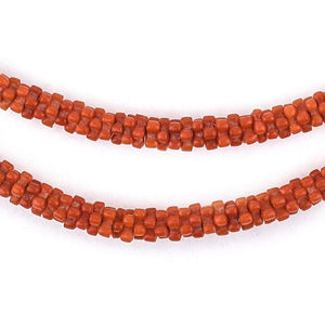 Crimson Red Star Snake Beads - The Bead Chest