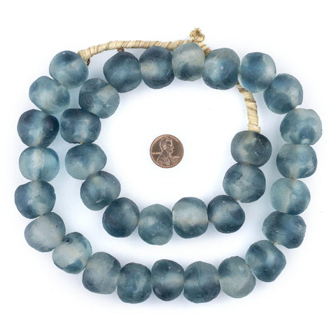 Jumbo Blue Wave Marine Recycled Glass Beads (23mm) - The Bead Chest