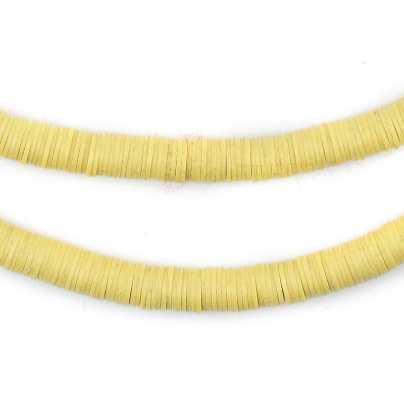 Pastel Yellow Vinyl Heishi Beads (6mm) - The Bead Chest