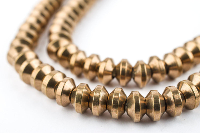 Antiqued Brass Wide Saucer Beads (4x7mm) - The Bead Chest