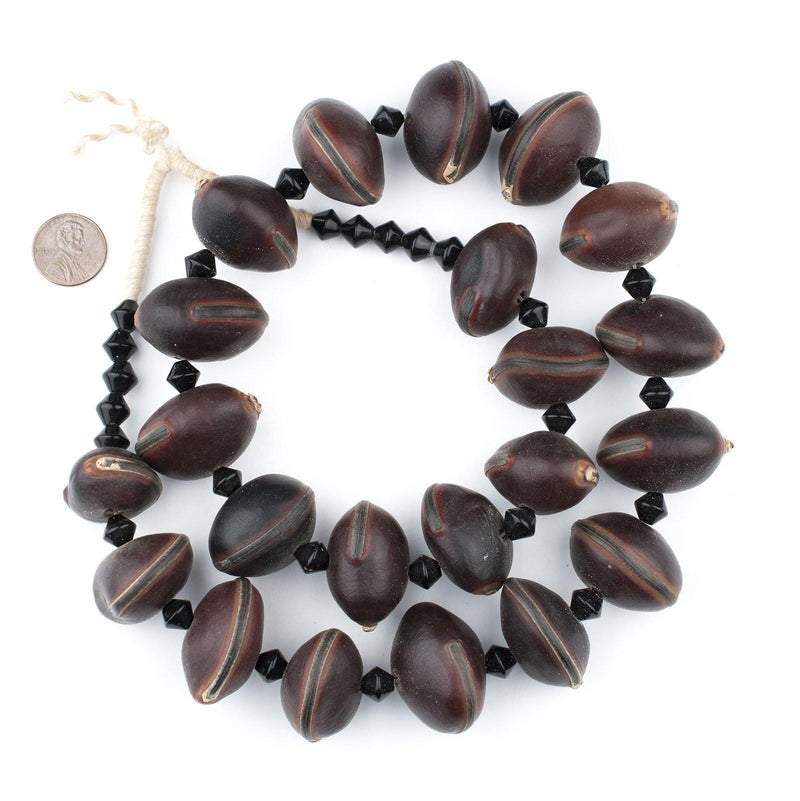 West African Natural Tree Pod Beads - The Bead Chest