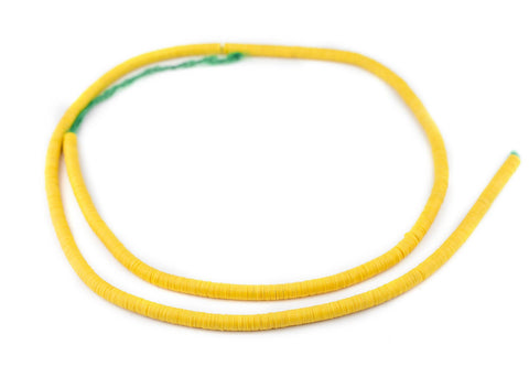 Image of Yellow Vinyl Phono Record Beads (6mm) - The Bead Chest