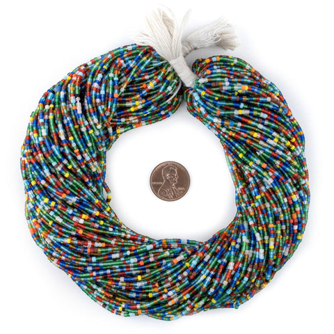 Translucent African Medley Afghani Tribal Seed Beads - The Bead Chest