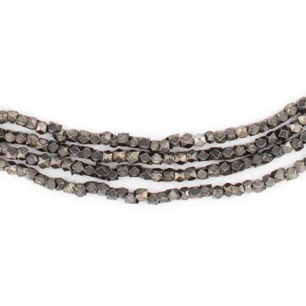 Midnight Brass Diamond Cut Beads (2mm) - The Bead Chest