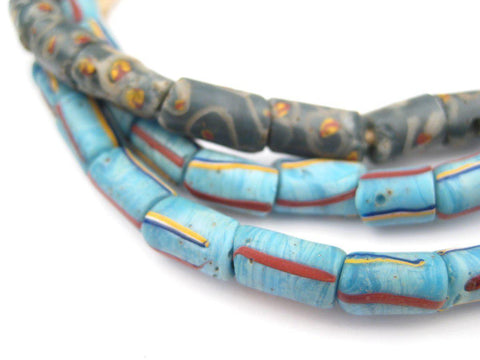 Image of Fancy Blue Antique Venetian Trade Beads - The Bead Chest