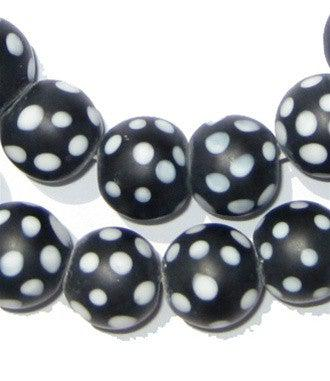 Black Skunk Beads (15mm) - The Bead Chest