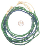 Wholesale Lot of Blue and Green Ghana Small Beads (4 strands)