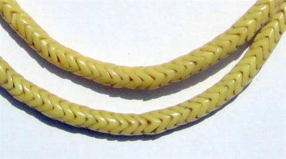 Glass Snake Beads, Yellow Color (Small) - The Bead Chest