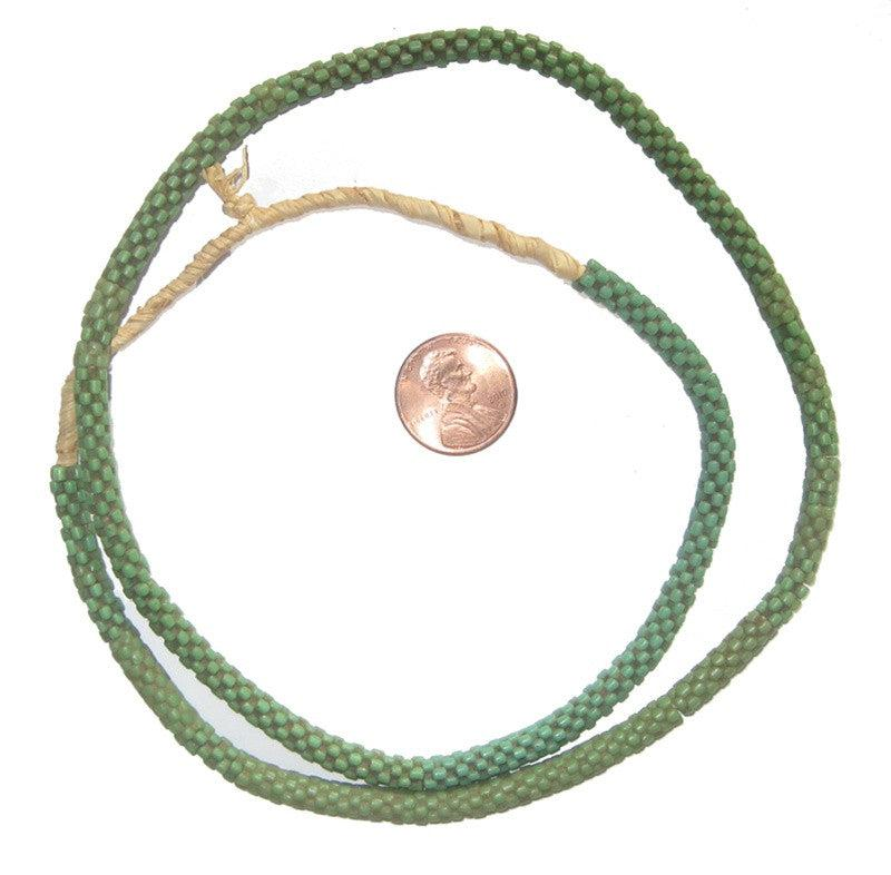 Green Star Snake Beads (6mm) - The Bead Chest