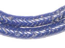 Glass Snake Beads, Navy Blue Color (9mm) - The Bead Chest