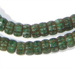 Pressed Glass, Green Color - The Bead Chest
