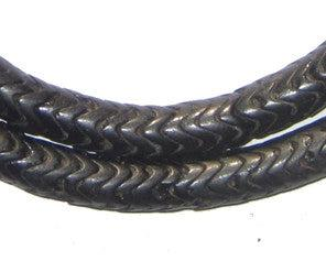 Black Glass Snake Beads (Large) - The Bead Chest