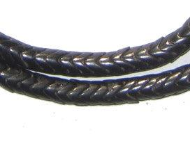 Black Glass Snake Beads (6mm) - The Bead Chest