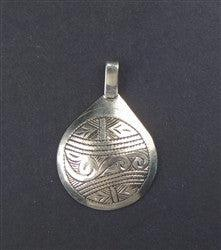 Engraved Moroccan Pendant - The Bead Chest